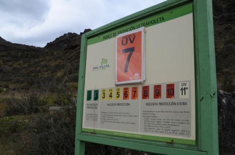 UV warning sign