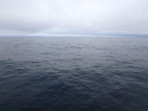 Morning horizon over the Bering Sea
