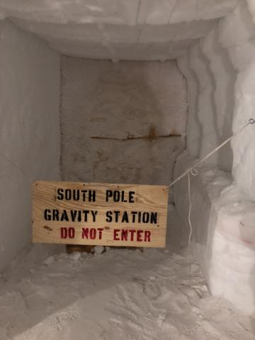 South Pole Gravity Sign