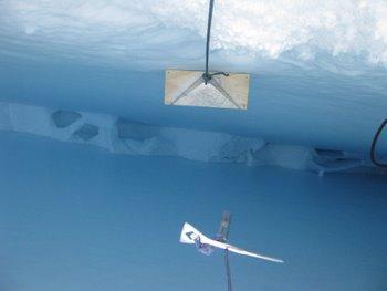 Crevasse with radar reflection plate