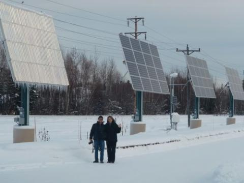Cold Climate Housing Research Center Photovoltaic Array. February 9, 2012