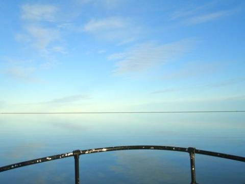 Unusual calm on the Beaufort Shelf and Elson Lagoon.  Photo 3/4.