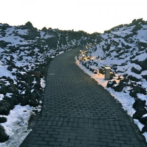 Entrance to Blue Lagoon. Iceland.