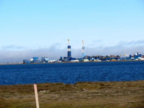 Prudhoe Bay Oil Platform.  Deadhorse AK.