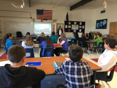 Students from the Anvil City Science Academy learning about Arctic Research