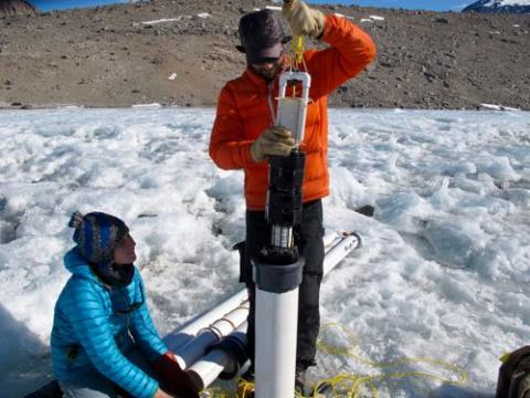 Extracting a sediment trap.