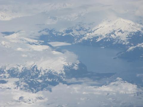 Mountains and glacier near Valdez, AK