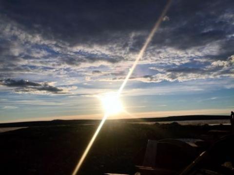 Midnight Sun at Toolik