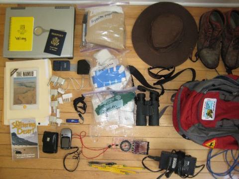 Packing for the Namib Desert