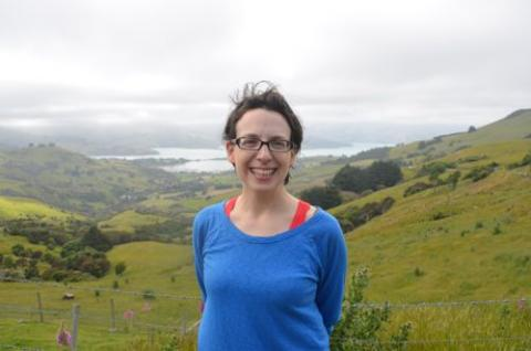 Michelle outside Akaroa
