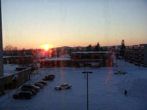 Sunset and Snow