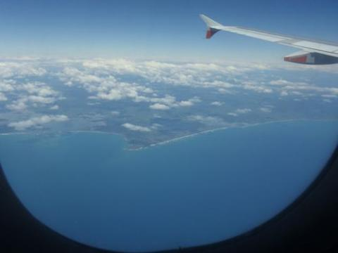 New Zealand from the airplane window