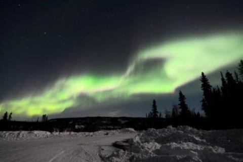 Viewing the aurora in Alaska