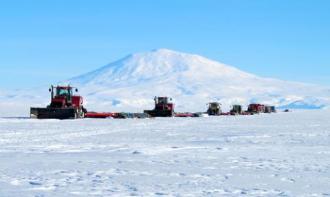 Traverse Caravan on Antarctic Continent