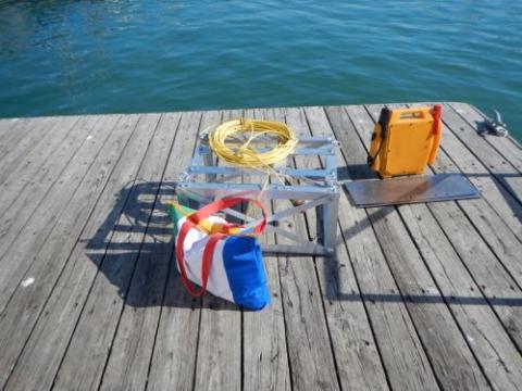 Fish Spy on the dock at Lake Michigan