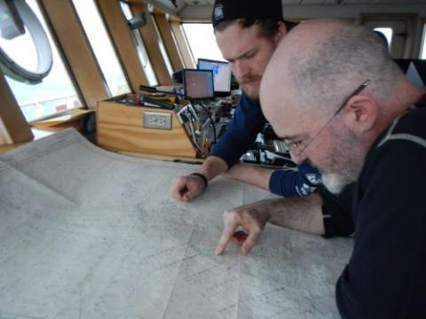 Captain Sebastian Paoni and First Mate Pete Kaple chart a new course