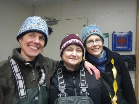 Kristin O'Brien, Paula Dell, and Lisa Crockett on the LMG