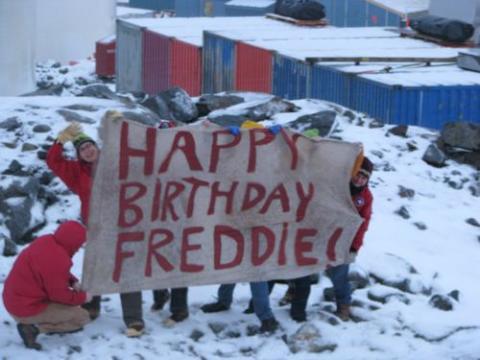 Happy Birthday, Freddie from Palmer Station