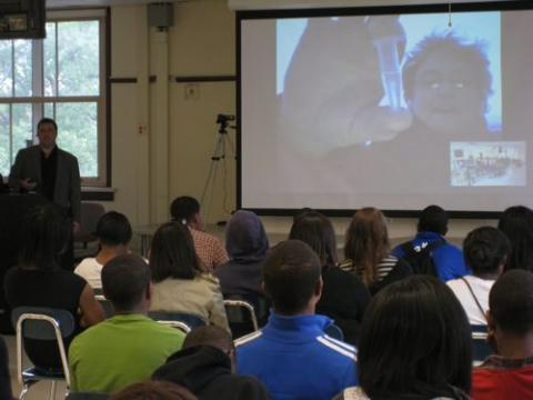 Live video conference between Palmer Station and Lindblom Math & Science Academy
