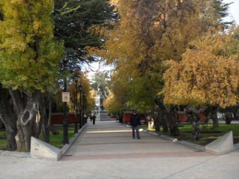 The city square in Punta Arenas is a great place to watch the world go by.