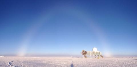 Fog Bow at Summit Station Greenland July 2012