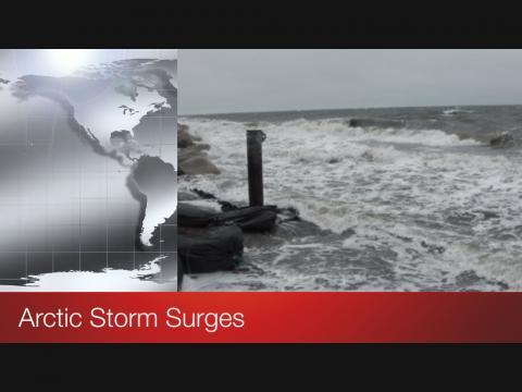 Screen shot of video title Arctic Storm Surges