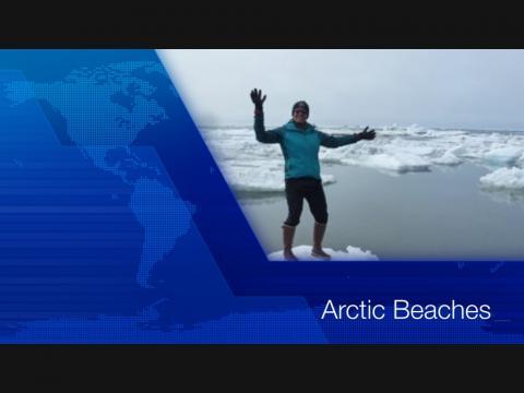Screen shot of video title Arctic Beaches
