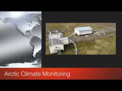 Screen shot of video title Arctic Climate Monitoring