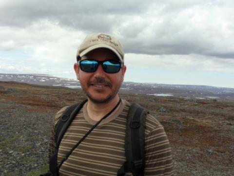 Mike Weintraub, lead PI on the Snowmelt Project, on Jade Mountain summit