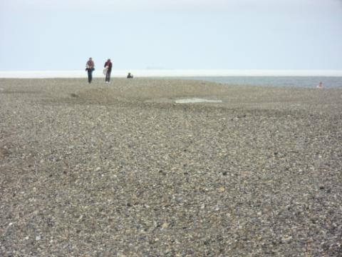 gravel bar jetty along the Arctic Ocean