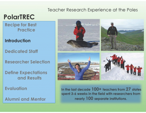 Best Practices of Teacher Research Experiences