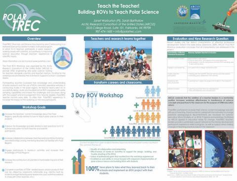 Teach the Teacher! Building ROV's to Teach Polar Science