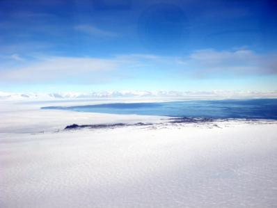 Ross Sea sea ice meets the open waters on the way to Cape Bird.