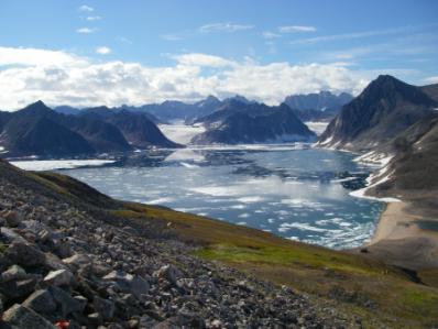 Less sea ice.
