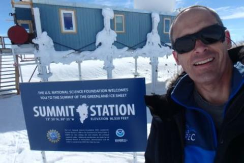 Steve Kirsche at Summit Station