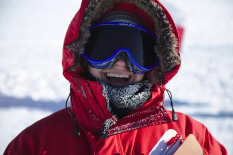 Kate Miller at the South Pole