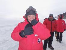 Polar TREC Teacher Denise Hardoy in Antarctica