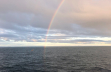 Rainbow at the end of the Drake Passage