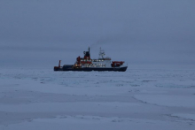Vessel in the sea ice