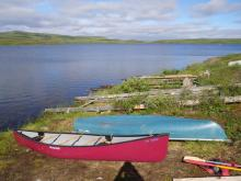 Canoes at Toolik Boat Dock