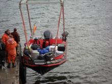 Polarcirket boat to take us to Longyearbyen.