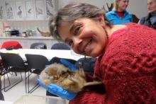 Karen holding Squirrel