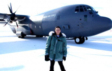 Kelly McCarthy and C-130 Hercules