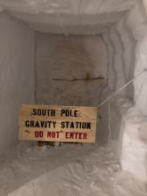 South Pole Gravity Sign