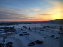 Sunset from conference room UAF