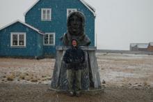 Snow on Amundsen