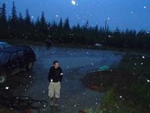 Scott Zolkos and snowflakes