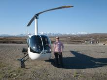 The helicopter!