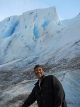 Sitting by the glacier