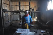 Michelle Brown in Cape Evans Hut